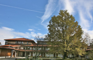 View of Zist retreat center building during autumn